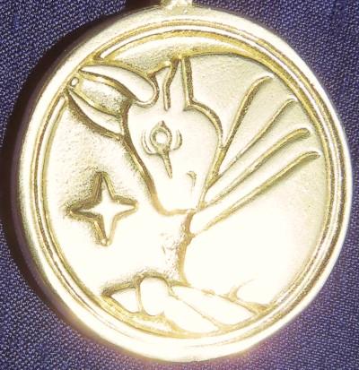 Golden Bronze Fixed Star Aldebaran Wealth & Money Talisman